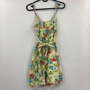 Abercrombie & Fitch Floral Mini Dress With Belt